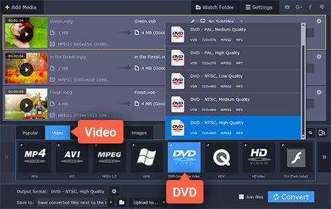 1 2 Converting Videos to DVD Using Movavi Video Converter